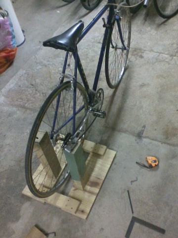 The bike and its stand