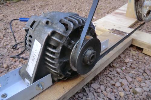 The belt on the alternator